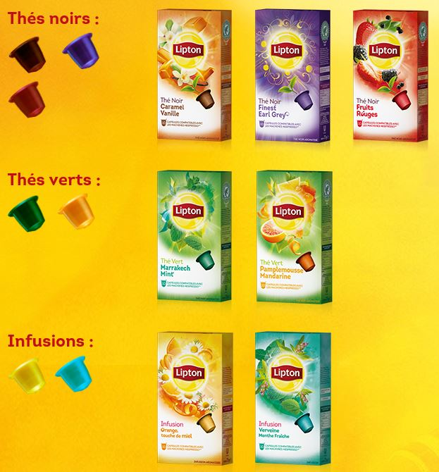 Screenshot Lipton Website
